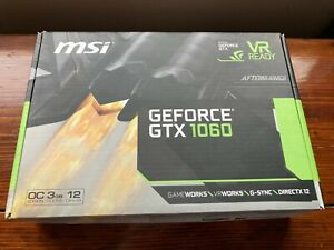 MSI NVIDIA GeForce GTX 1060 3GB GDDR5 OCV1 PCI-E Gaming Graphics Card