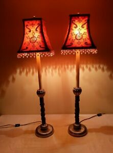 Raymond Waites for Tyndale (Frederick Cooper) Buffet Candlestick Lamps ~ A PAIR