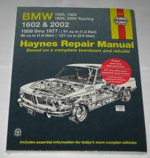 Manual de Reparaciones BMW 1500 1502 1600 1602 2000 2002 Nuevos Clase, 1962-1977