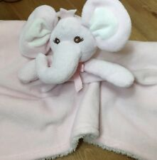 GUC Piccolo Bambino Plush Pink Elephant Security Blanket Lovey Cuddly Pal