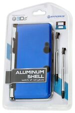 NEW BLUE Aluminum Shell with 2 Retractable Stylus Pens for the OLD Nintendo 3DS