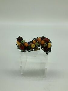 Dollhouse Miniature Artisan Decorative Fruit Wreath