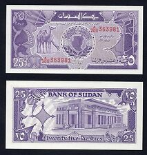 25 piastres Bank of Sudan 1987 FDS/UNC  //