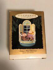 * Hallmark Keepsake Ornament Baby's First Christmas Light and Music 1993