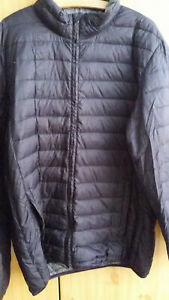 Rhode Island, ultraleicht, Daunenjacke, Jacke, schwarz, Herren, Gr. XL, mit Bag