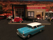 1:64 Hot Wheels Limited Edition 1957 57 Chevy Nomad Wagon Teal with White Top