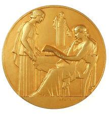 1933 Art Deco CHAMBRE DE MÉTIERS DU LOIRET By Jean Vernon bronze-gilt 57mm.