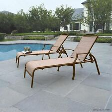 Ordinaire Set Of 2 Chaise Lounges Tan Color Chair Patio Pool Furniture Outdoor Modern  NEW