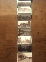 Set 8 Sepia Photographs Postcard Letter Card HASTINGS East Sussex Coast Seaside