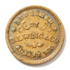 D L Wing & Co, Union Flour Fuld Ny Albany 10H Xf 1863 Civil War Store Card
