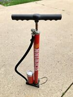Vintage Schwinn 1500 Bike Tire Bicycle Pump VTG 80s Gauge for PARTS/REPAIR