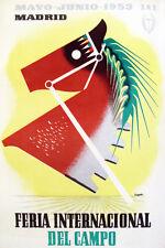 "11x14""Decoration Poster.Interior room design art.Madrid country horse fair.6642"