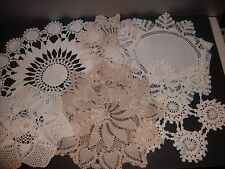 Vintage Hand Crocheted Doilies lot of 6 (White & Ecru)