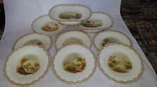 Ten Piece Early 19th Century Hand Painted Topographical Dessert Service -c 1846