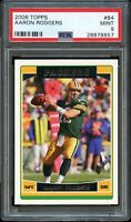 2006 Topps FB Card # 84 Aaron Rodgers Green Bay Packers HOF PSA MINT 9 !!!!