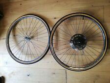 "Vintage Bike Wheelset, 26"", Pelissier Hub, Rigida Rim, New Regina Sprocket"