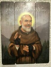 """ST PADRE PIO "" PALLET SIGN, 12 x 15"" New in box!  AWESOME!!!"