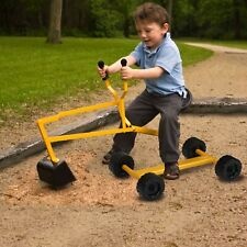 Kids Ride On Sand Digger Excavator 4 wheels Heavy Duty Digging Scooper For Beach