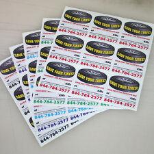 1000 Semi-Customized Tire Rotation Reminder Service Sticker White Low Tack Vinyl