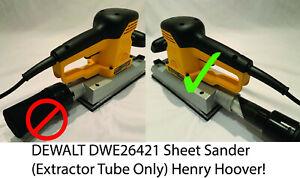 DEWALT D26421 sheet sander Dust Bag  Extractor adaptor Henry hoover