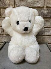 "Vtg 1979 Dakin Plush Teddy Bear 15"" Arms Up Worn Ivory Cream No Tag No Ribbon"