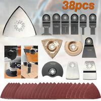 38pcs Oscillating Tools Saw Cutter Multitool Polishing Accessories Parts Set