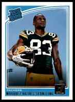 2018 Panini Donruss Rated Rookie Marquez Valdes-Scantling RC Packers #336