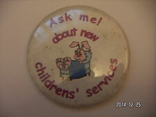 ASK ME ABOUT CHILDRENS SERVICES RABBIT PICTURE  BADGE