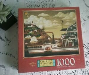 Charles Wysocki Jigsaw Puzzle Americana Fairhaven in the Fall 1000 Pce COMPLETE