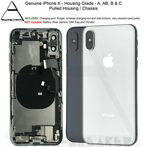Genuine Apple iPhone X Back Rear Housing Chassis With Parts Grade A AB B and C