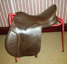 "GFS Fieldhouse Brown Leather GP Saddle 17"" Seat XX Wide Fitting"
