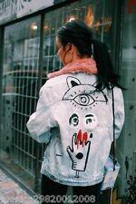 Zara Denim Jacket With Graffiti Size XS Ref 6045 247