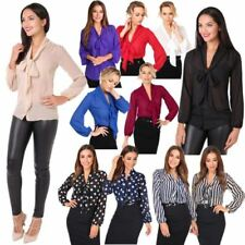 Career Blouses for Women with Bows