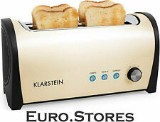 Double Long Two-slot Toaster by Klarstein 1400w Kitchen Toasters - Cream