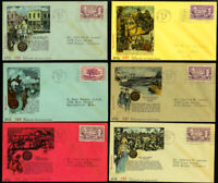 US Lot of 12 Rare Early Stamp Cover Cachets