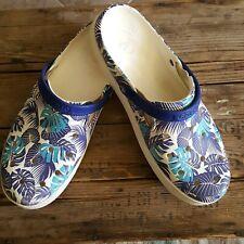 Crocs  Mens Size 13 Tropical Hawaiian Print Rubber Comfort Slip On Casual Shoes