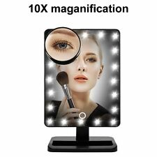 10 x Tocco Di Ingrandimento Luce LED Make Up Cosmetici Da Tavolo Hollywood Mirror