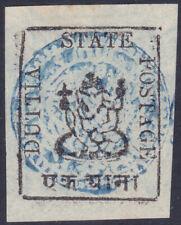 India Feud State Duttia 1 Anna White (LAID) & (Type 1) Ganesh - SG 9b - £35/$45