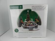 Dept 56 Christmas in the City Animated Rockefeller Plaza Skating Rink #52504 New
