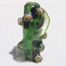HELIX #3 Handmade Art Glass Focal Bead Flaming Fools Lampwork Art Glass SRA