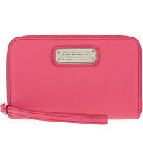 NWT Marc by Marc Jacobs Wingman Leather Zip-around iPhone Wallet Wristlet Pink