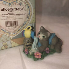 "Enesco Calico Kittens Aquarius ""You Are Faithful, Inventive, .� Cat Figurine"