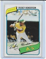 1980 Topps Rickey Henderson RC #482 GOAT CLEAN HOF Athletics Yankees Dodgers