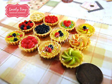 Dollhouse miniature Bakery: Set of 4 PCs.Miniature Fruit Tart 2 cm., Free ship