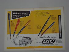 advertising Pubblicità 1960 PENNA BIC STILO/SILVER/REFIL/ M10/M 5