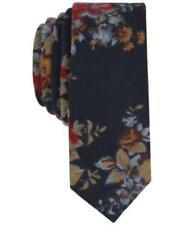 New Penguin Roundtree /& Yorke slim skinny neck tie knit floral Cremieux