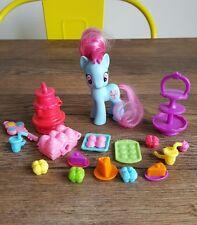 Mi Pequeño Pony G4 FIM Peinables Figura Juguete-la Sra. Dazzle Pastel Y Accesorios