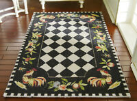 1/12 Scale Miniature Roster Roses French Aubusson Design Dollhouse Rug