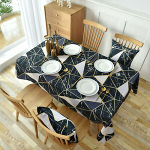 Waterproof Tablecloth Rectangle Square Dining Kitchen Printed Table Cloth Decor