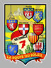 RN7 STICKER AUTOCOLLANT ROUTE NATIONALE 7  SOLEIL ECUSSON 11X7,5CM NA039